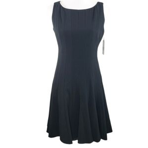 NWT Calvin Klein black fluted fit & flare …